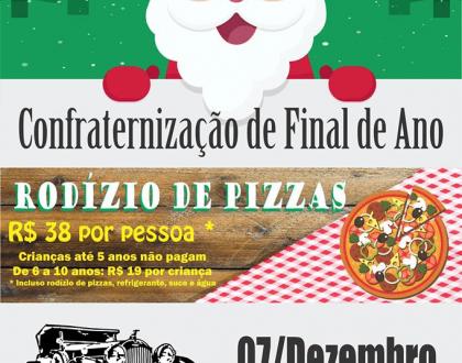 Exposição de veículos antigos e rodízio de pizzas marcam confrate